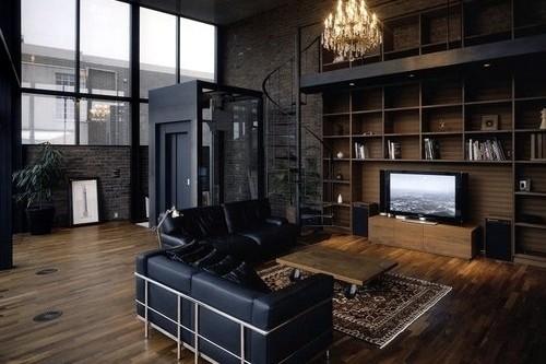 Тъмни метални стълби