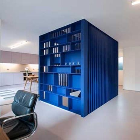 металните стълби - сини